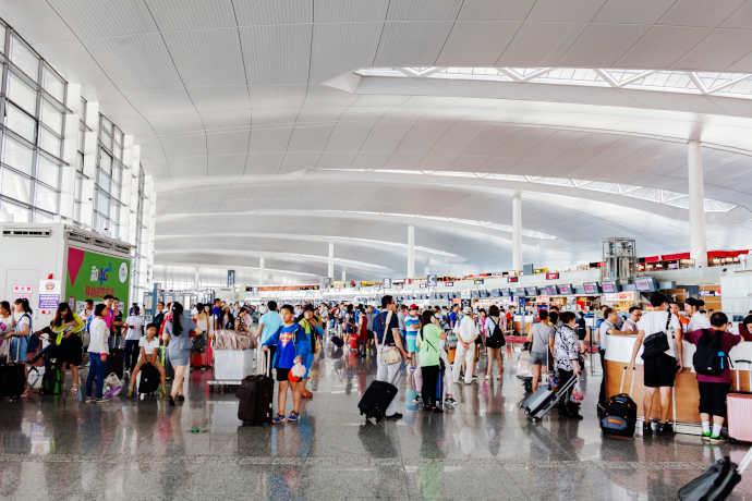 Nanjing International Airport has a couple of passenger terminals.